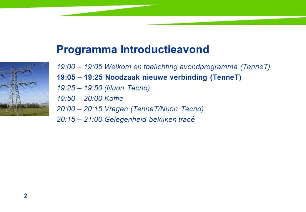 Programma Introductieavond