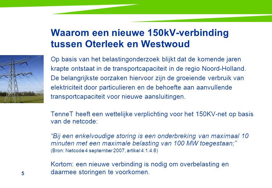 Waarom een nieuwe 150kV-verbinding tussen Oterleek en Westwoud