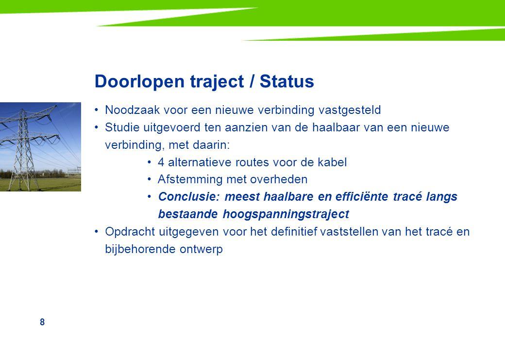 Doorlopen traject / Status