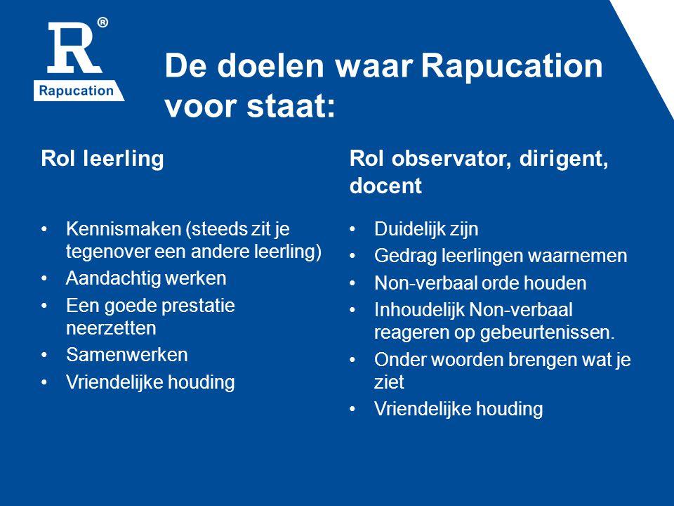 De doelen waar Rapucation voor staat: