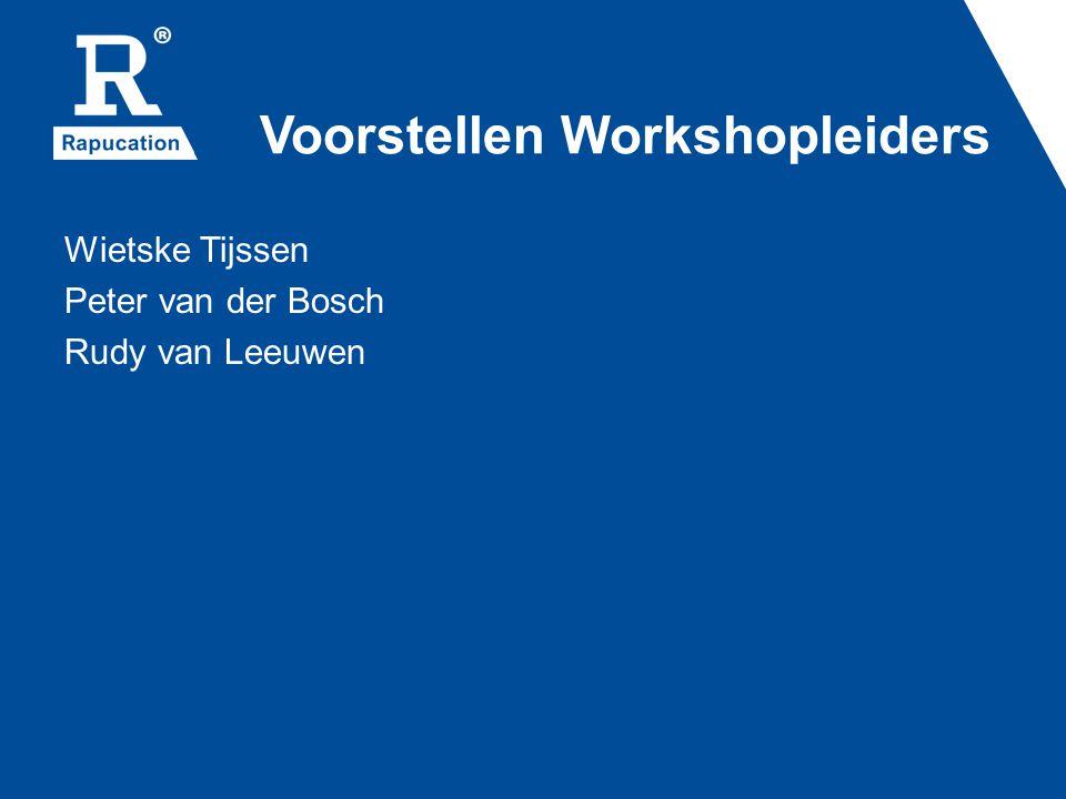 Voorstellen Workshopleiders