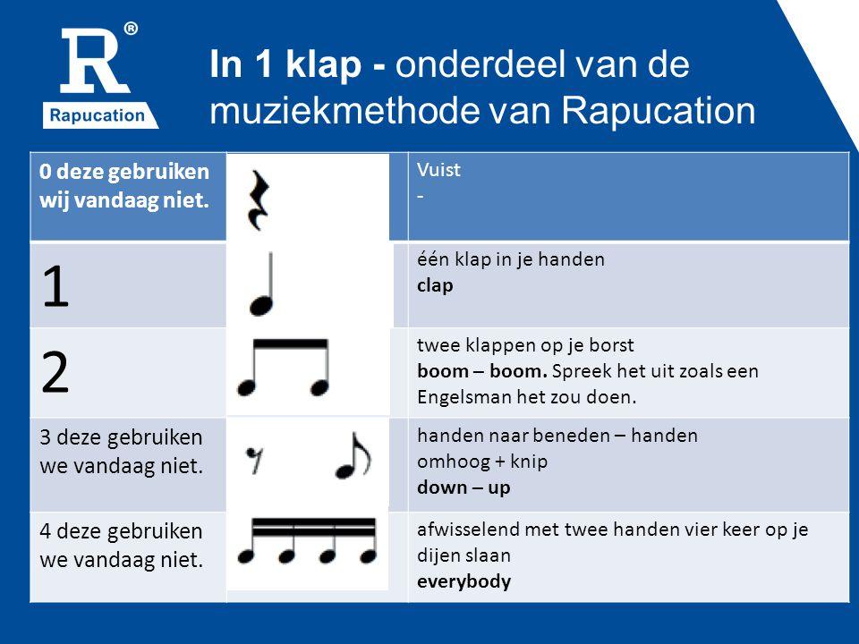 In 1 klap - onderdeel van de muziekmethode van Rapucation