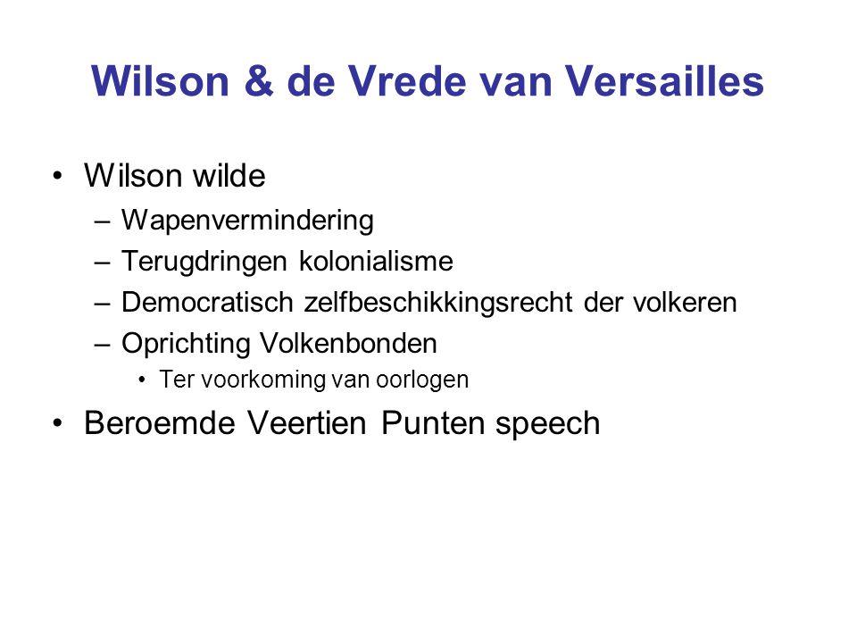 Wilson & de Vrede van Versailles