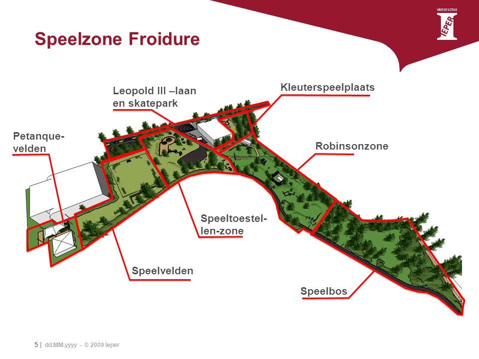 Speelzone Froidure Kleuterspeelplaats Leopold III –laan en skatepark