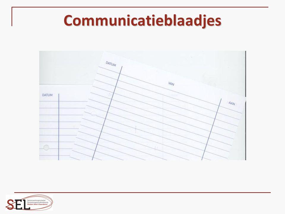 Communicatieblaadjes