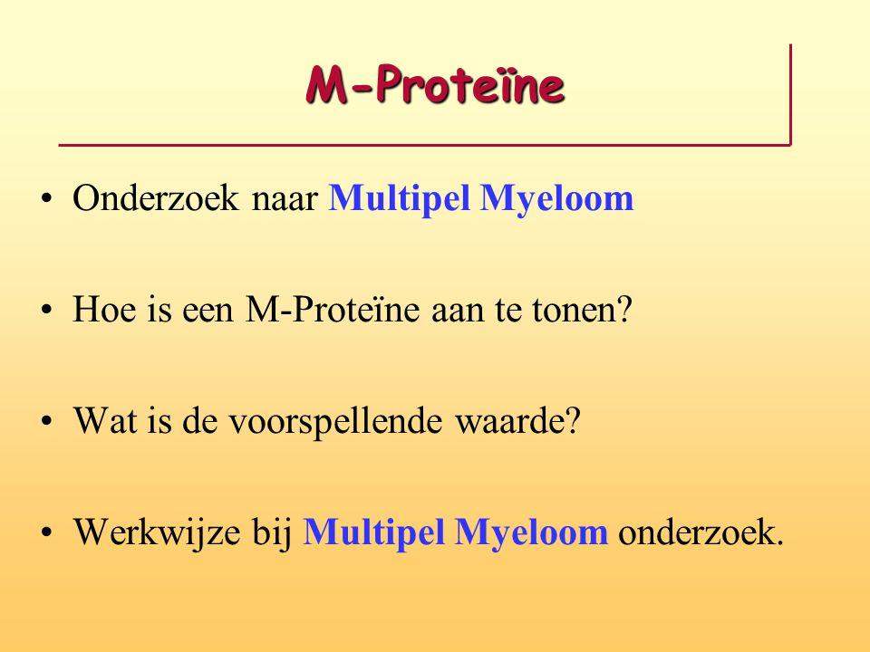 M-Proteïne Onderzoek naar Multipel Myeloom