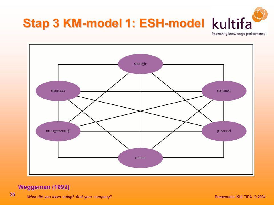 Stap 3 KM-model 1: ESH-model
