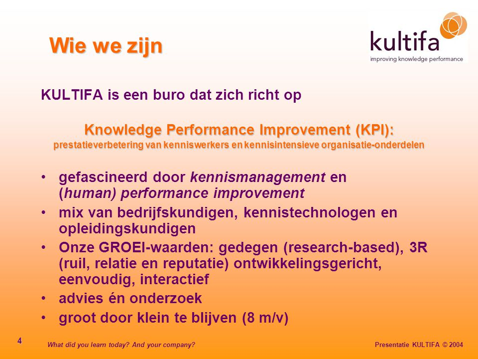 Knowledge Performance Improvement (KPI):