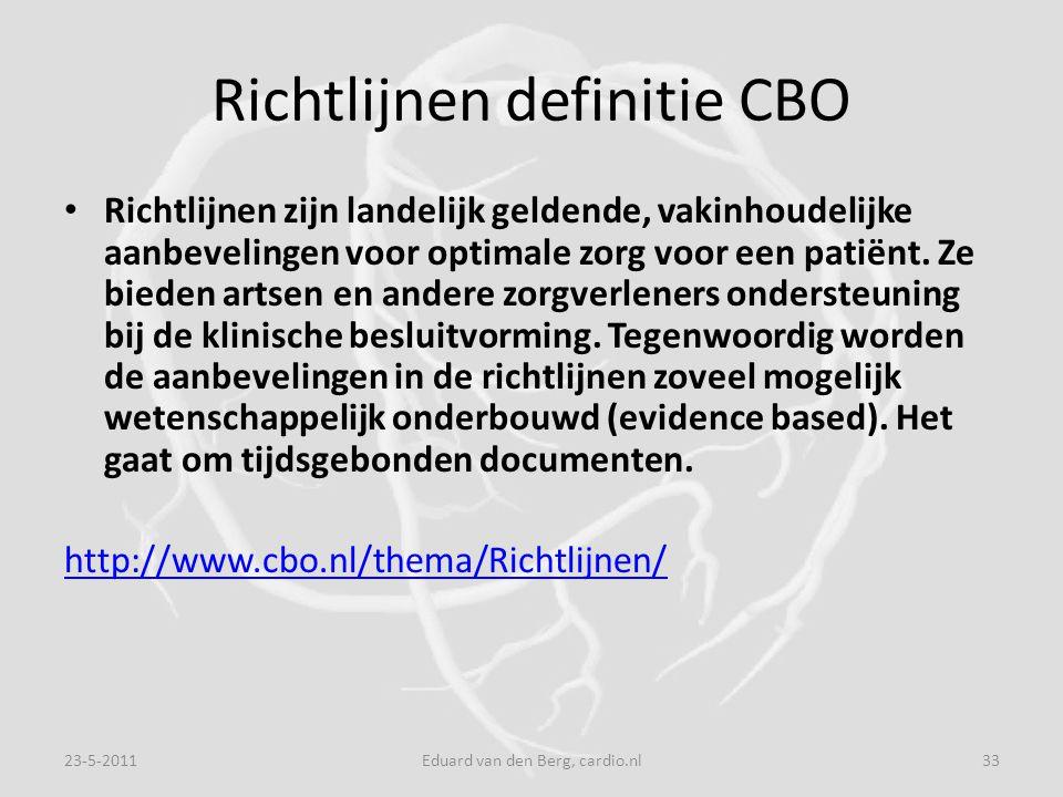Richtlijnen definitie CBO