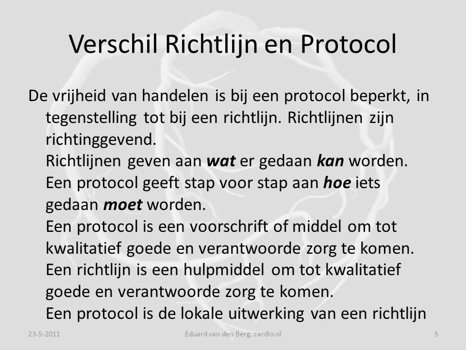 Verschil Richtlijn en Protocol