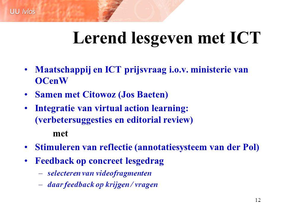 Lerend lesgeven met ICT