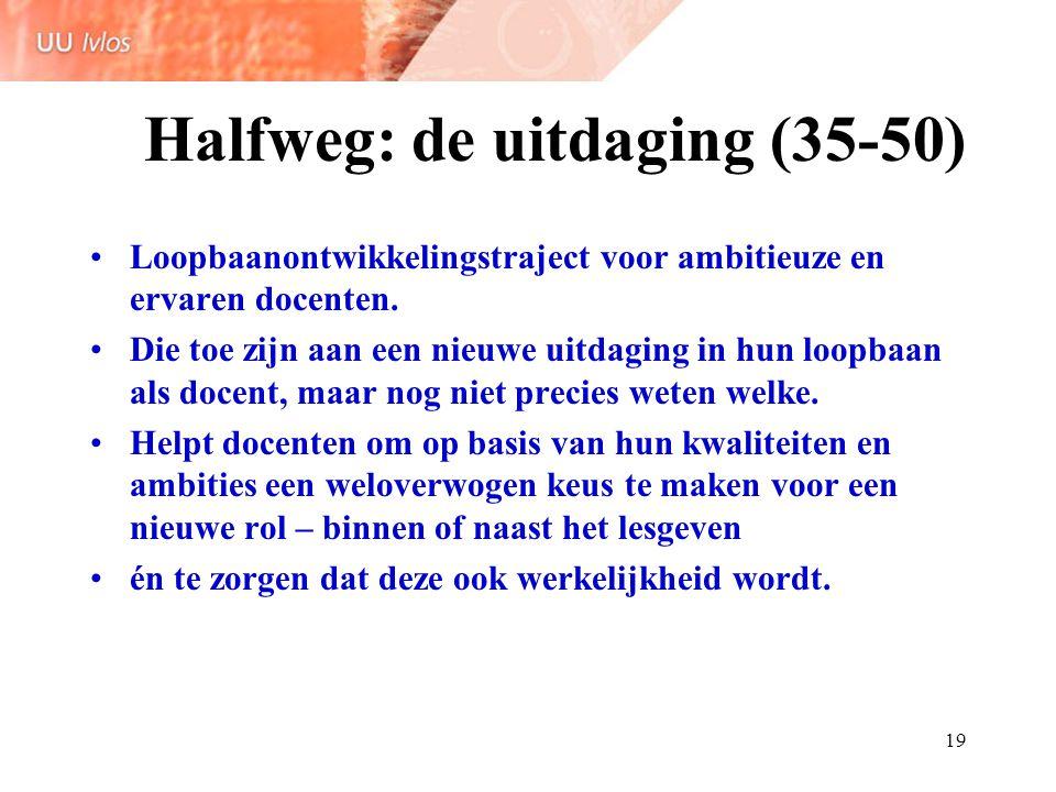 Halfweg: de uitdaging (35-50)