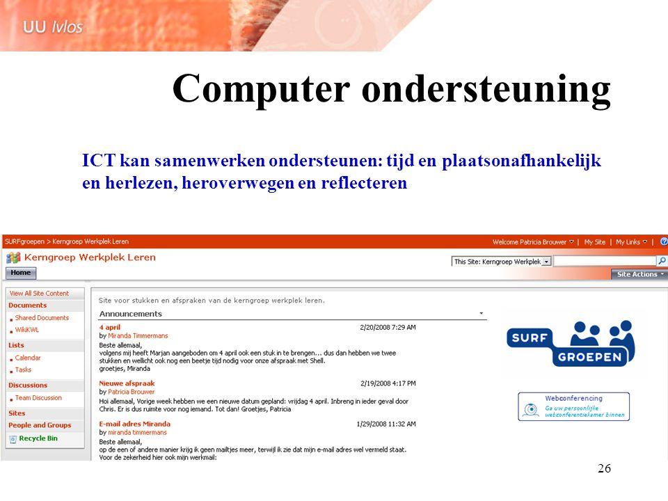 Computer ondersteuning