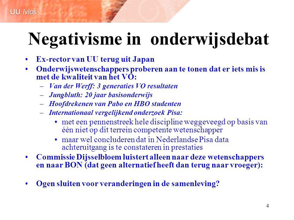 Negativisme in onderwijsdebat