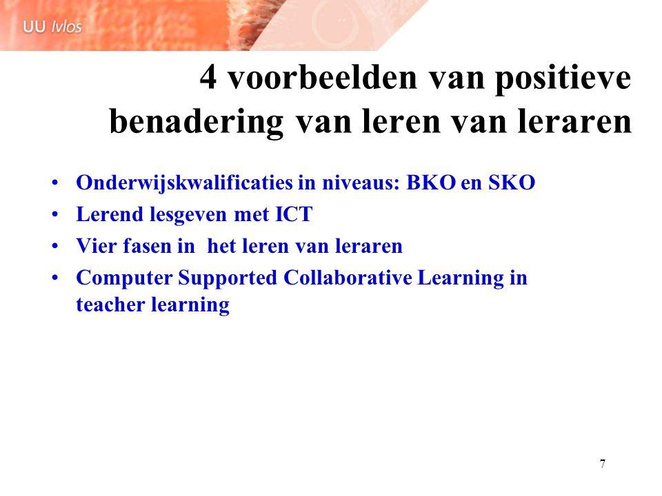 4 voorbeelden van positieve benadering van leren van leraren