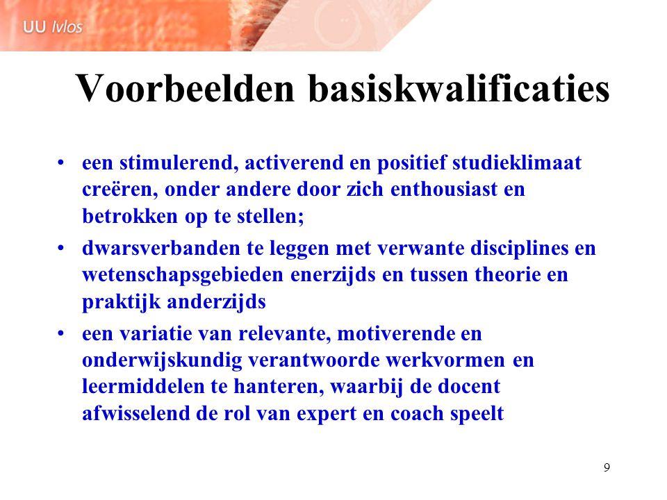 Voorbeelden basiskwalificaties