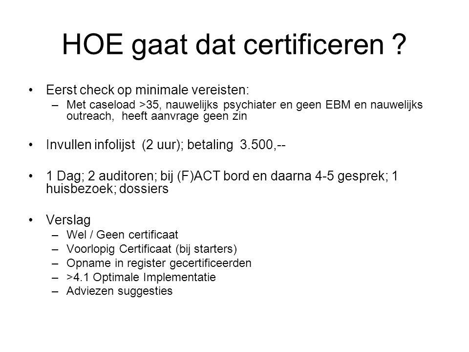 HOE gaat dat certificeren