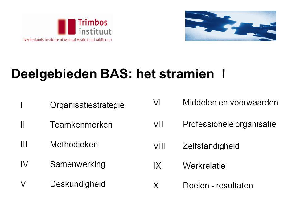 Deelgebieden BAS: het stramien !