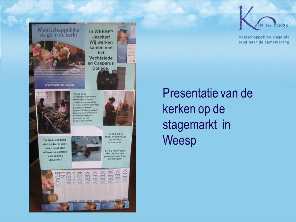 Presentatie van de kerken op de stagemarkt in Weesp