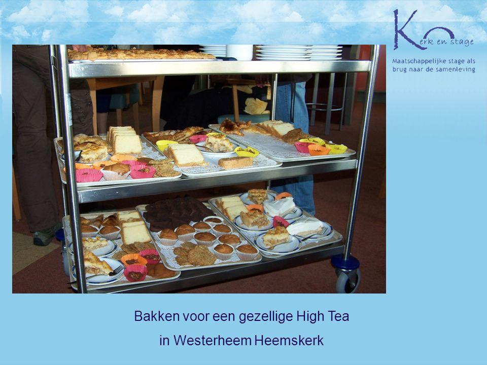 Bakken voor een gezellige High Tea in Westerheem Heemskerk