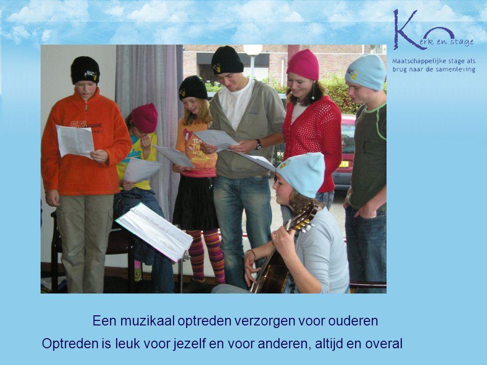 Een muzikaal optreden verzorgen voor ouderen