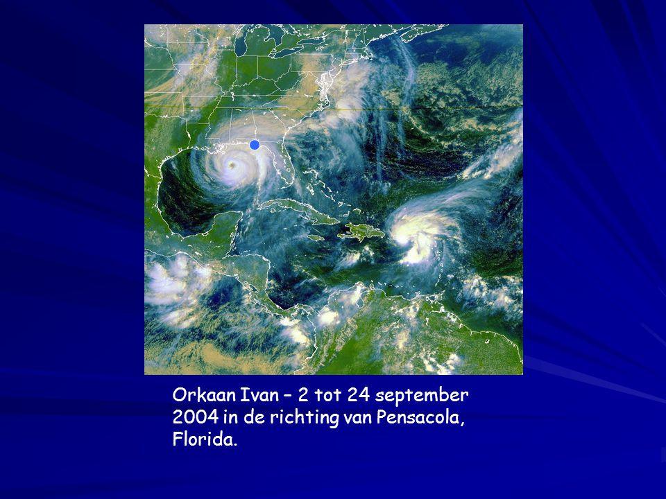 Orkaan Ivan – 2 tot 24 september 2004 in de richting van Pensacola, Florida.
