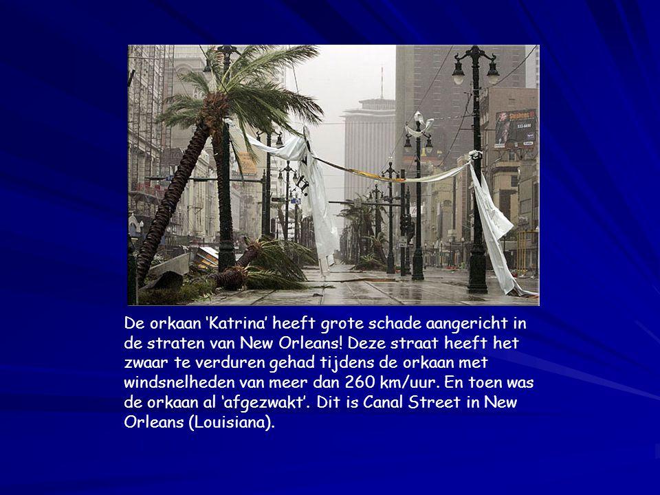 De orkaan 'Katrina' heeft grote schade aangericht in de straten van New Orleans.