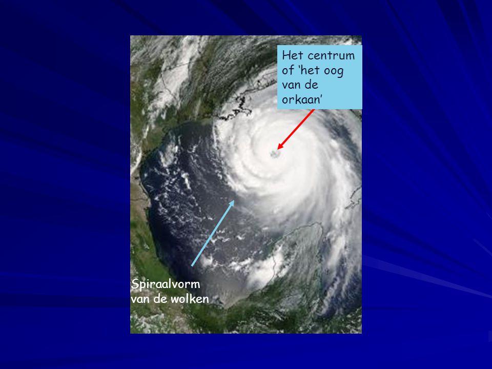 Het centrum of 'het oog van de orkaan'