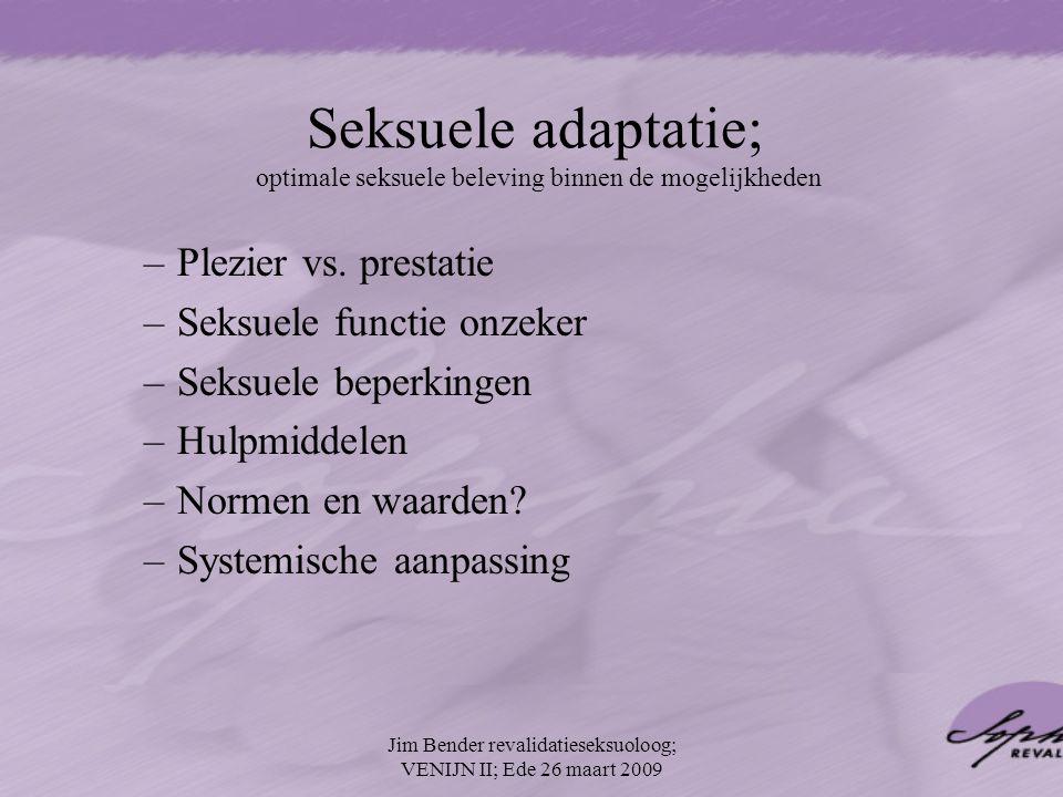 Seksuele adaptatie; optimale seksuele beleving binnen de mogelijkheden