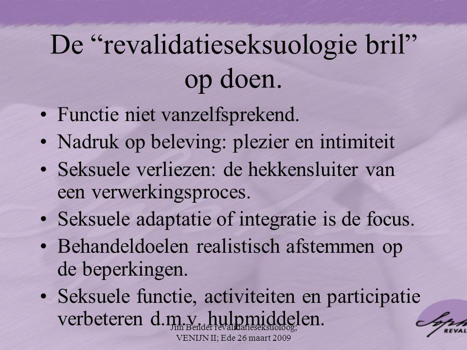 De revalidatieseksuologie bril op doen.