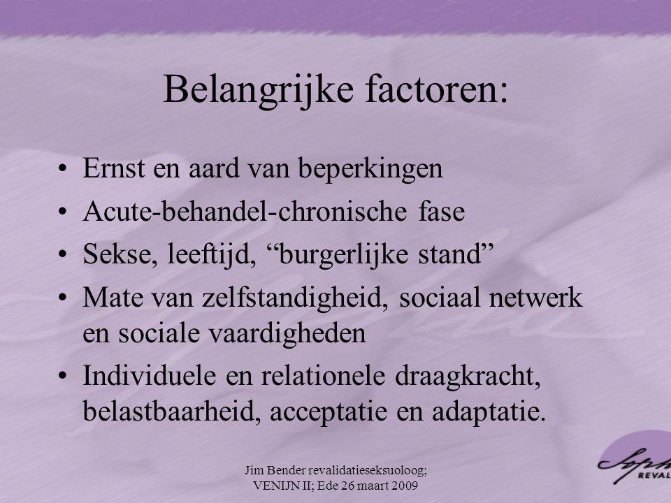 Belangrijke factoren: