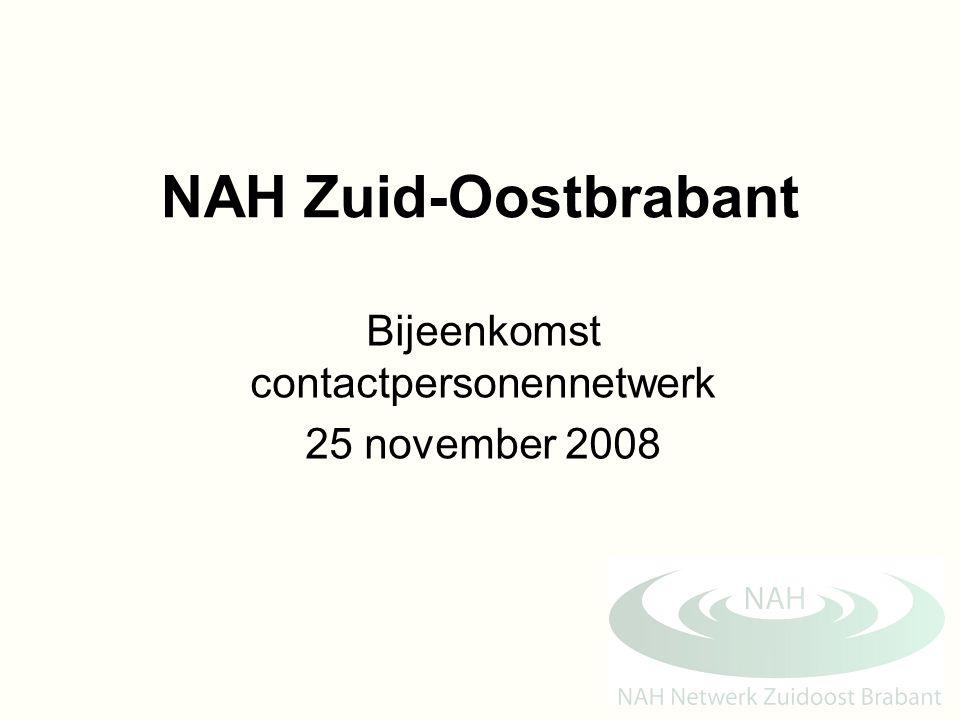 Bijeenkomst contactpersonennetwerk 25 november 2008