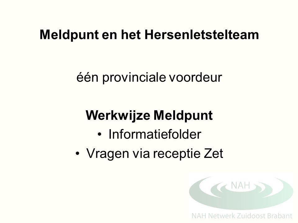 Meldpunt en het Hersenletstelteam
