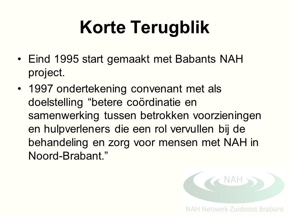 Korte Terugblik Eind 1995 start gemaakt met Babants NAH project.