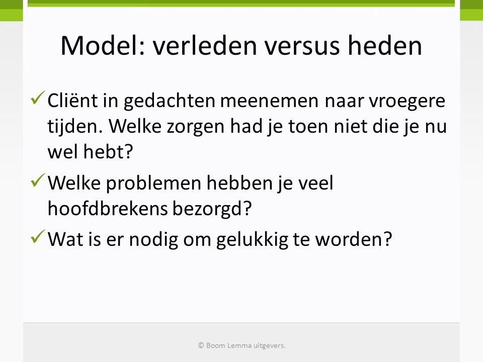 Model: verleden versus heden