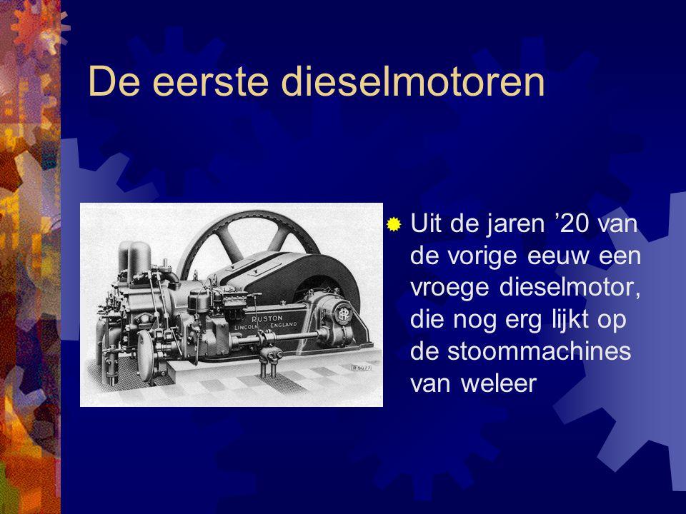 De eerste dieselmotoren