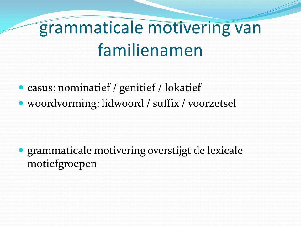 grammaticale motivering van familienamen