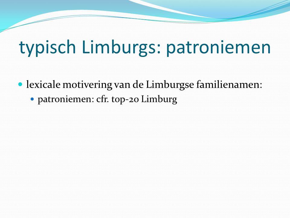 typisch Limburgs: patroniemen