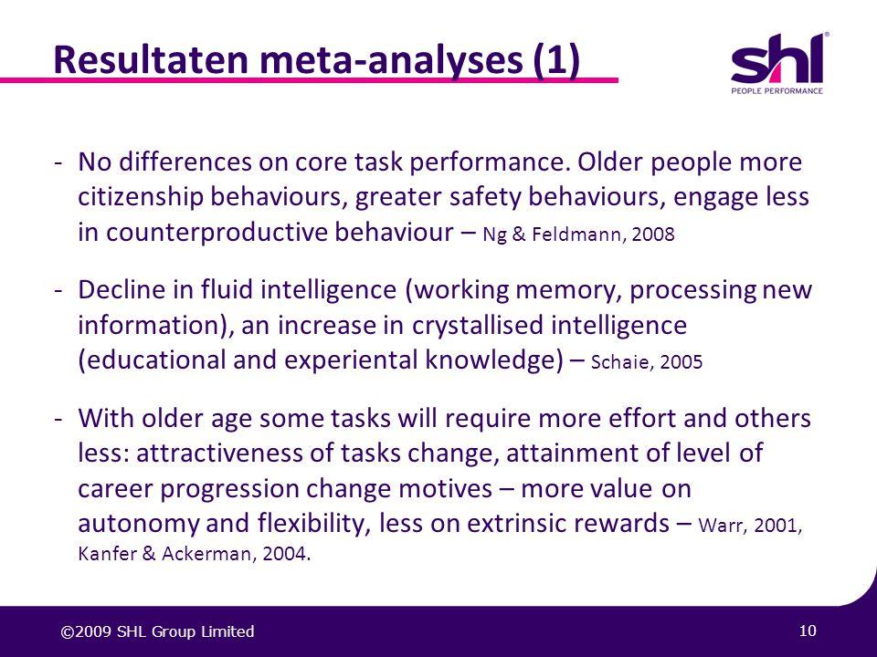 Resultaten meta-analyses (1)