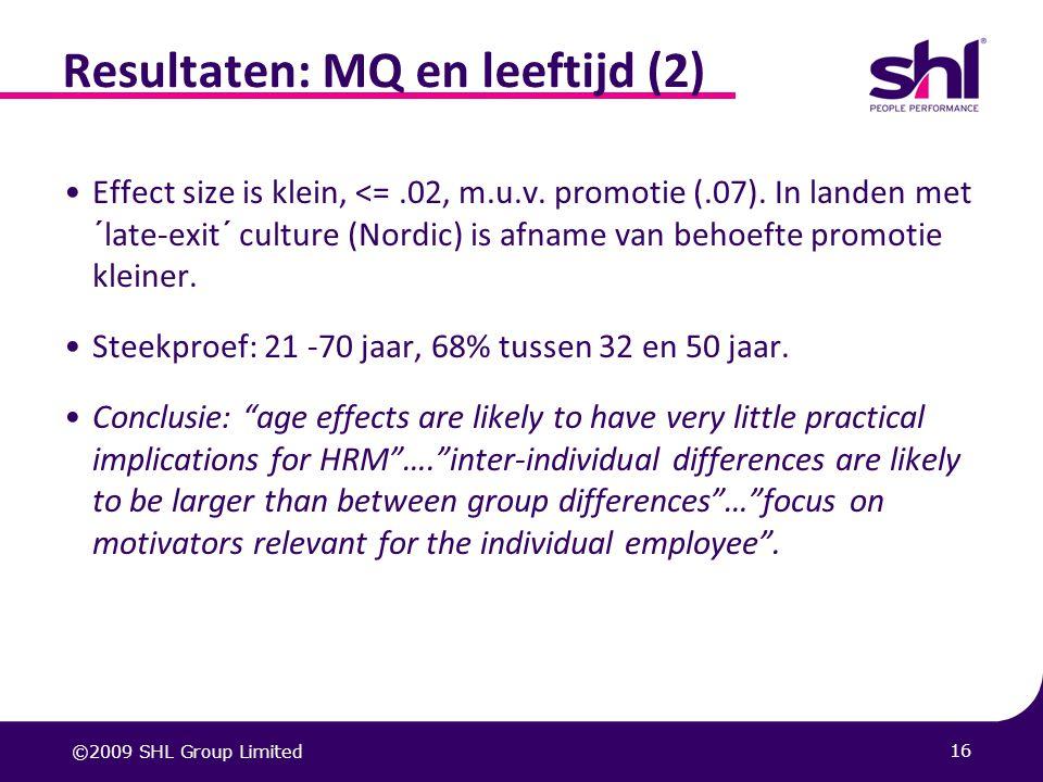 Resultaten: MQ en leeftijd (2)