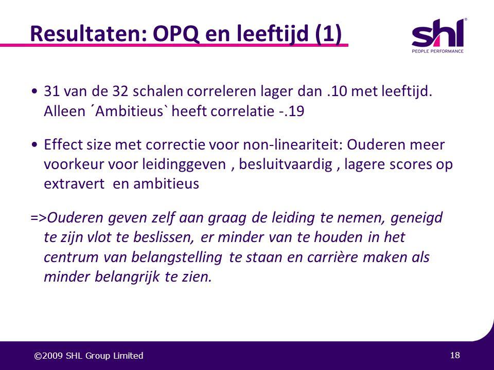 Resultaten: OPQ en leeftijd (1)
