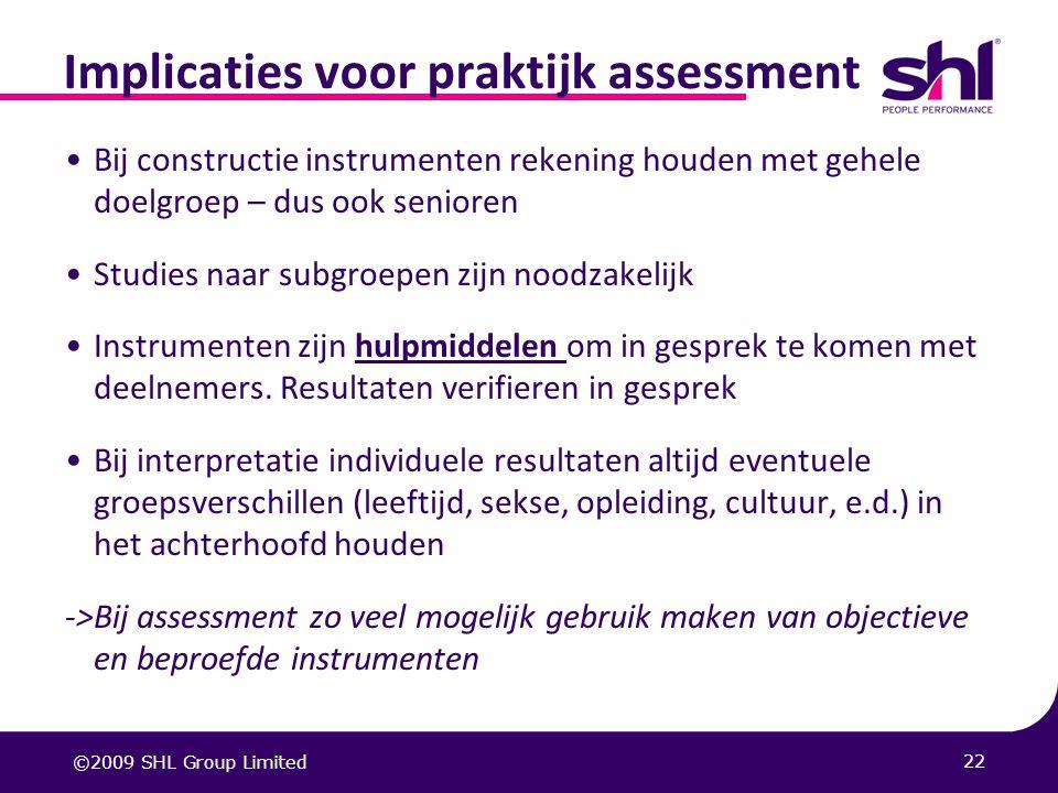 Implicaties voor praktijk assessment