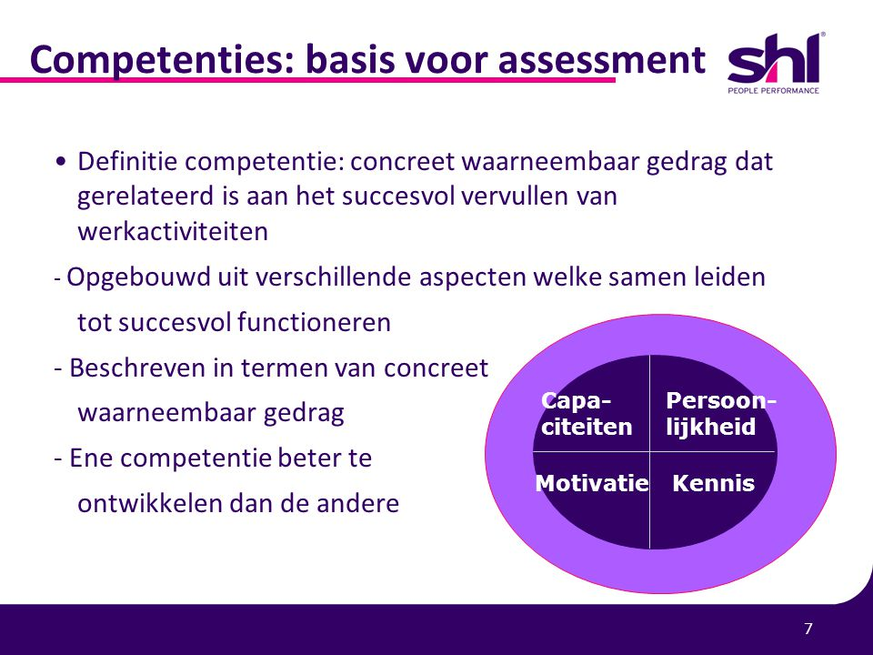 Competenties: basis voor assessment