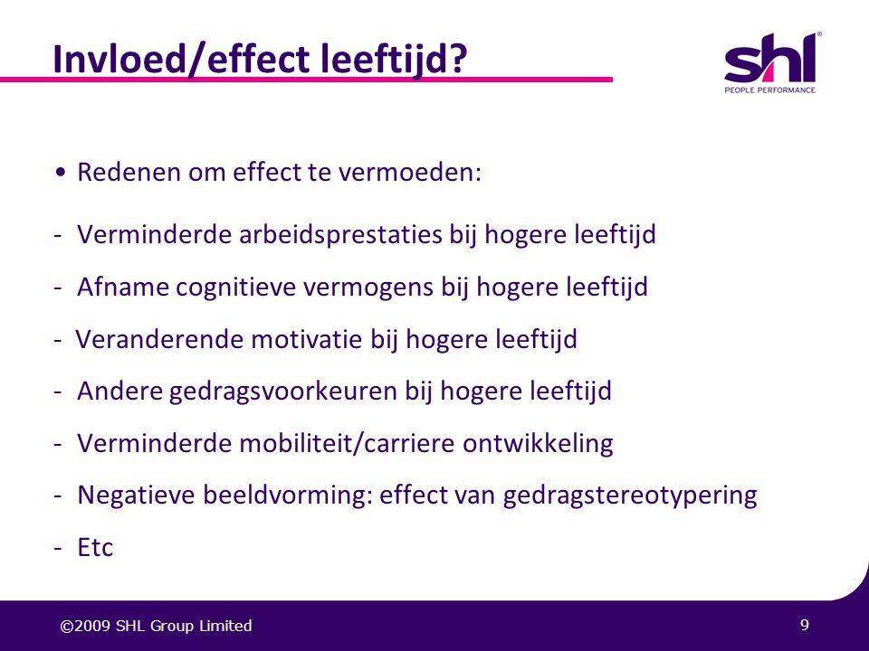 Invloed/effect leeftijd