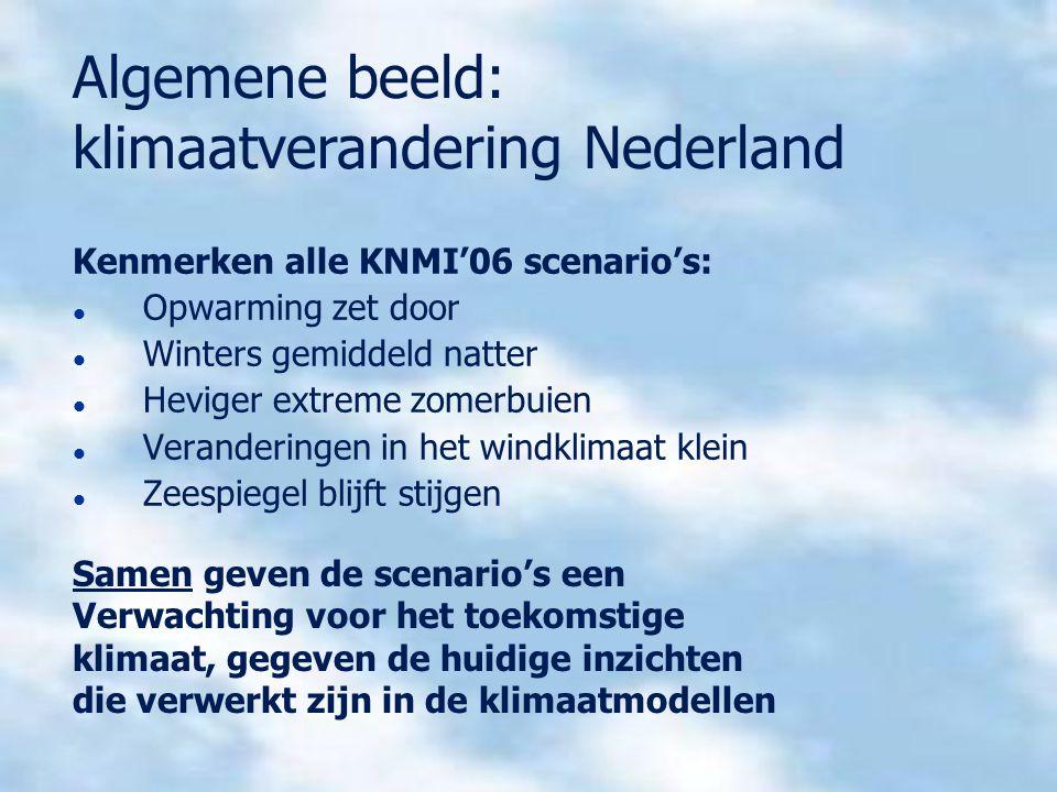 Algemene beeld: klimaatverandering Nederland
