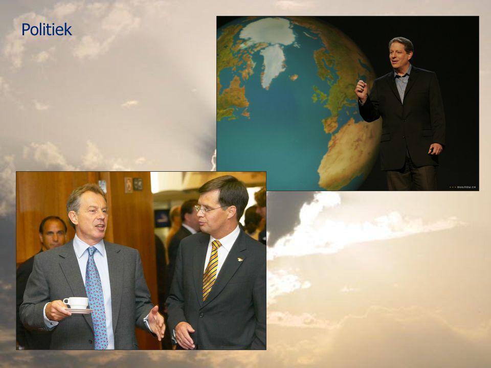 Politiek En hier is de man die dat zo gedaan heeft, Al Gore bij de introductie van An Inconvenient Truth in 2006.