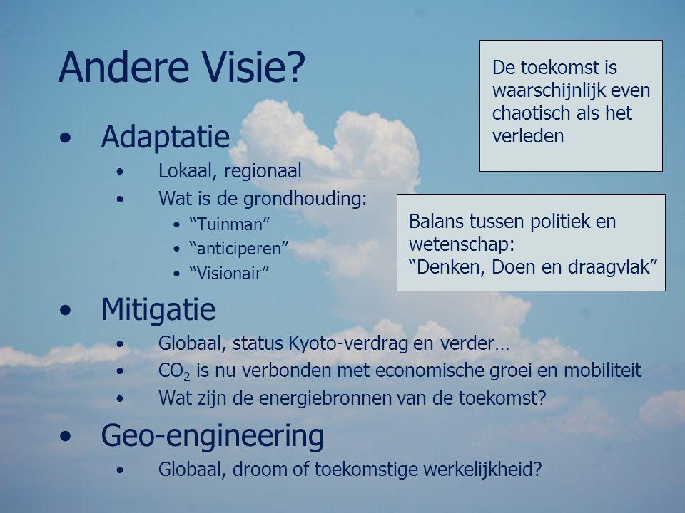 Andere Visie Adaptatie Mitigatie Geo-engineering