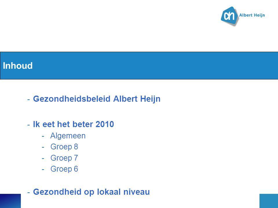 Inhoud Gezondheidsbeleid Albert Heijn Ik eet het beter 2010
