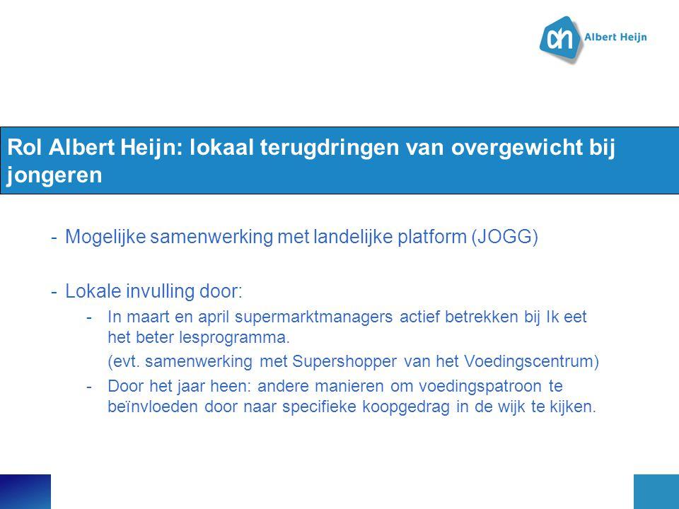 Rol Albert Heijn: lokaal terugdringen van overgewicht bij jongeren