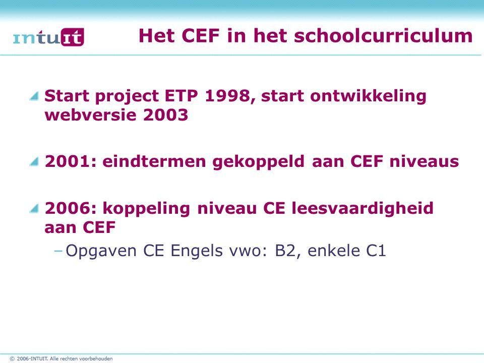 Het CEF in het schoolcurriculum